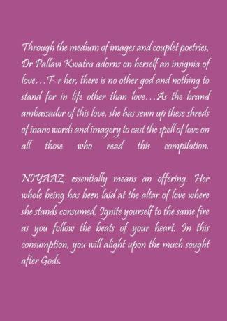 Niyaaz Book by Dr Pallavi Kwatra - Back Cover