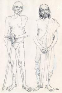 Bhagavan with Kavyakantha Ganapati Muni