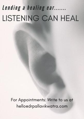 Lending a healing ear Service by Dr Pallavi Kwatra